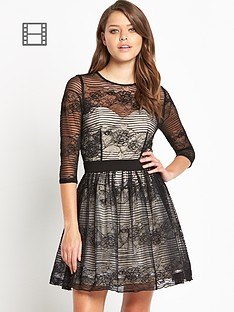 little-mistress-lace-skater-dress