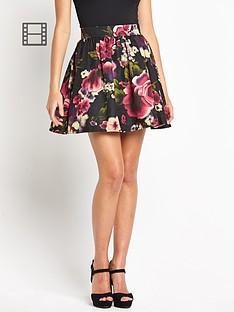 girls-on-film-floral-pleat-skirt