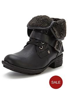firetrap-henri-fur-collar-ankle-boots
