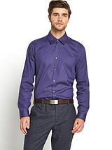 Mens Long Sleeve Fine Dot Shirt