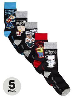 family-guy-5pk-socks