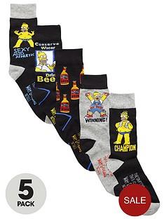 the-simpsons-5pk-socks