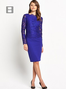 ted-baker-vendela-lace-top-fitted-dress