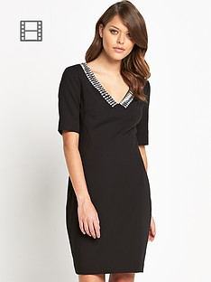 ted-baker-vickie-emb-v-neck-dress