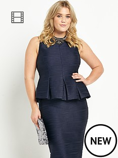 ax-paris-curve-ripple-peplum-top