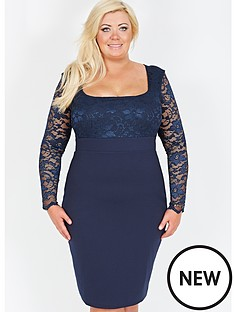 gemma-collins-lace-scoop-neck-dress
