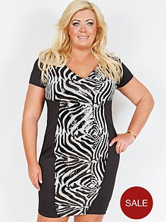 gemma-collins-zimbabwe-sequin-dress