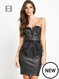 lipsy-lace-bandeau-peplum-dress