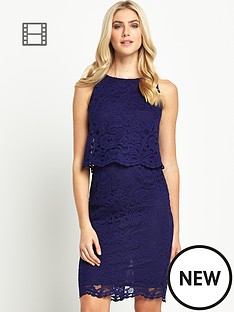 oasis-corded-lace-tier-dress