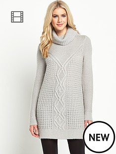 oasis-cable-fluffy-knitted-jumper-dress