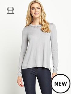 oasis-embellished-pleat-back-jumper