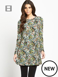 glamorous-paisley-swing-dress
