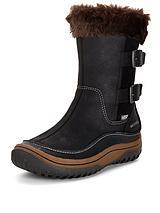 Decora Chant Fur Cuff Leather Boots