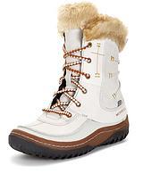 Decora Sonata Lace Up Fur Cuff Leather Boots
