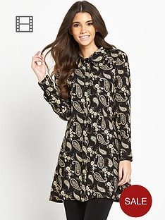 glamorous-paisley-print-swing-shirt-dress