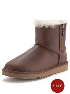 ugg-australia-classic-mini-leather-double-zip-boots