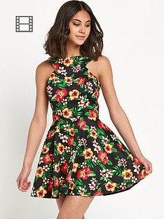 ax-paris-tropical-skater-dress