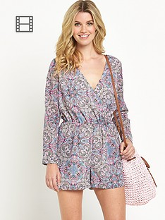 south-wrapover-printed-playsuit