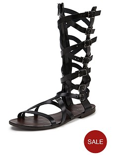shoe-box-meredith-knee-high-leather-gladiator-sandals-black