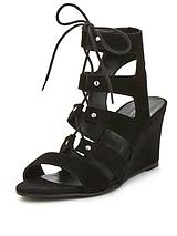 Khristie Low Wedge Gladiator Sandals
