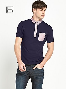 fred-perry-mens-woven-trim-polo-shirt