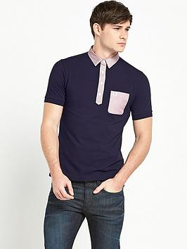 Fred Perry Mens Woven Trim Polo Shirt