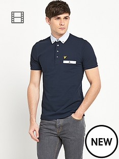 lyle-scott-mens-fabric-mixed-collar-polo-shirt