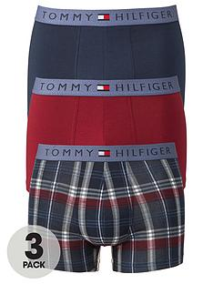 tommy-hilfiger-mens-plaincheck-trunks-3-pack