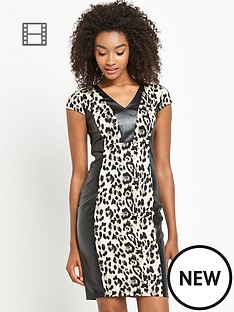 definitions-animal-print-pu-dress
