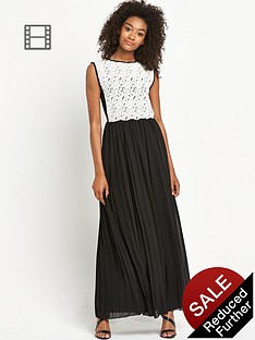 definitions-lace-pleated-maxi-dress