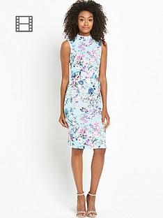 definitions-printed-high-neck-sleeveless-dress