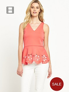 definitions-v-neck-peplum-top-with-lazer-cut-detail