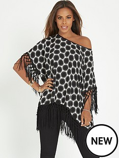 rochelle-humes-fringe-hem-printed-top