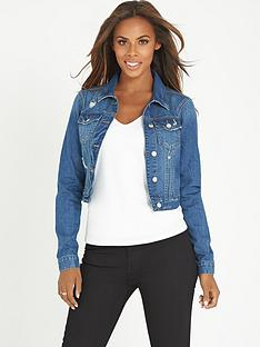 rochelle-humes-distressed-denim-jacket