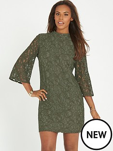 rochelle-humes-high-neck-lace-dress