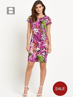 savoir-tropical-print-pencil-dress