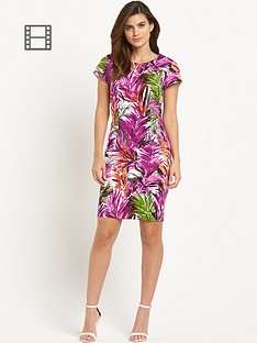 savoir-tropical-print-pencil-dress