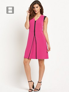savoir-pu-trim-a-line-dress