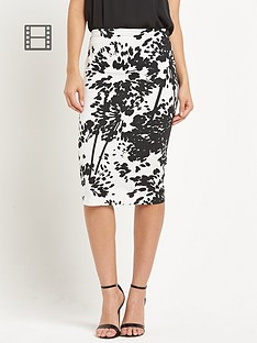 savoir-printed-ponte-pencil-skirt