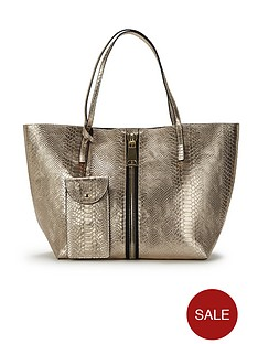 snake-embossed-zip-detail-tote-bag