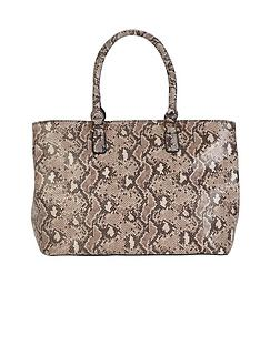 snake-print-shoulder-bag