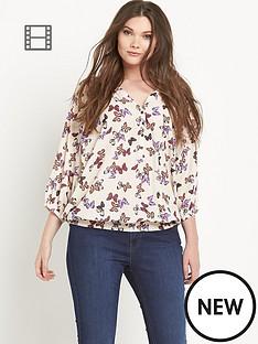 so-fabulous-butterfly-print-shirred-hem-gypsy-blouse