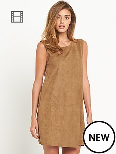 vero-moda-faux-suede-shift-dress