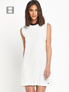 replay-pu-trim-mono-shift-dress