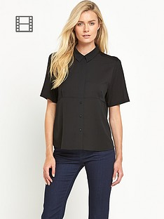 french-connection-polly-plains-short-sleeve-collared-top