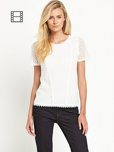 oasis-daisy-lace-pom-pom-shell-top