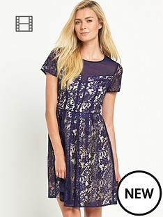 oasis-lucy-lace-skater-dress