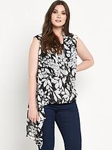Cross Front Blouse with Cami