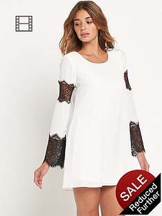 lipsy-lace-sleeved-insert-swing-dress
