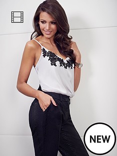 lipsy-michelle-keegan-applique-twist-cami